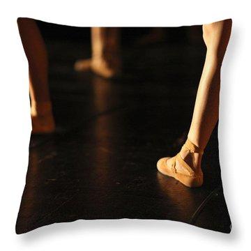 Pointe Shoes Throw Pillows
