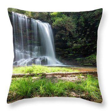 Lower Bearwallow Falls Throw Pillow