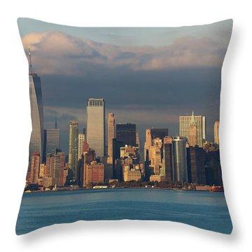 Lower Manhattan Panoramic Throw Pillow