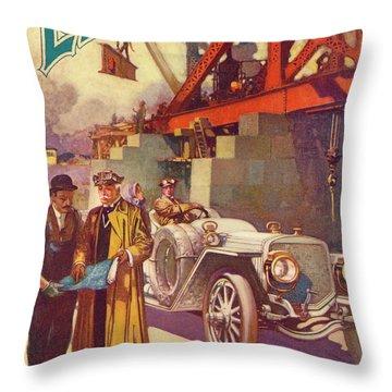 Lozier Advertisement Throw Pillow