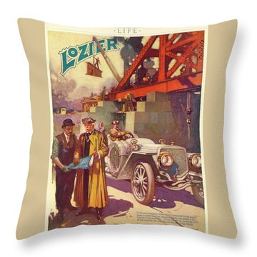 Lozier Advertisement Throw Pillow