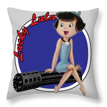 Lucky Lula Throw Pillow