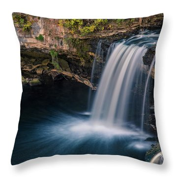 Throw Pillow featuring the photograph Ludlow Falls Ohio by Dan Sproul