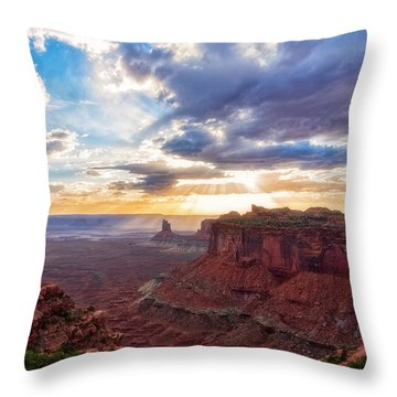 Throw Pillow featuring the photograph Luminous by Russell Pugh