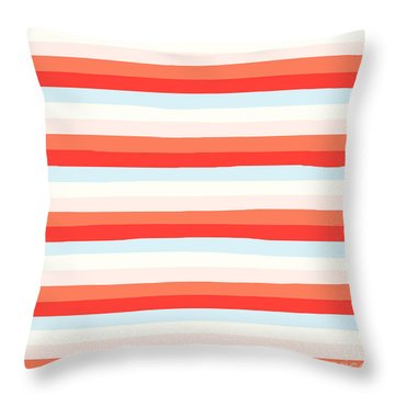 lumpy or bumpy lines abstract and colorful - QAB266 Throw Pillow