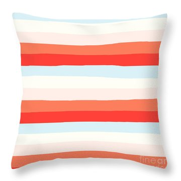 lumpy or bumpy lines abstract and colorful - QAB268 Throw Pillow