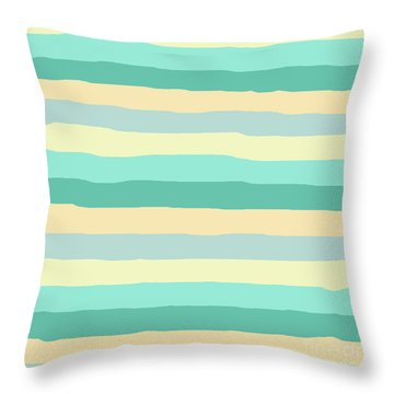 lumpy or bumpy lines abstract and summer colorful - QAB271 Throw Pillow