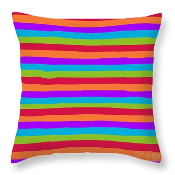 lumpy or bumpy lines abstract and summer colorful - QAB273 Throw Pillow