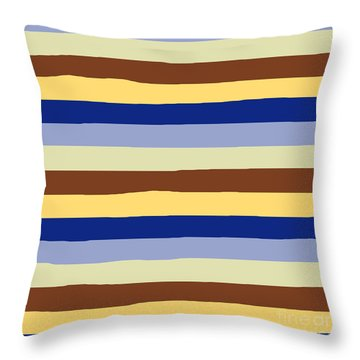 lumpy or bumpy lines abstract and summer colorful - QAB277 Throw Pillow