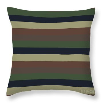 Army Color Style Lumpy Or Bumpy Lines - Qab279 Throw Pillow