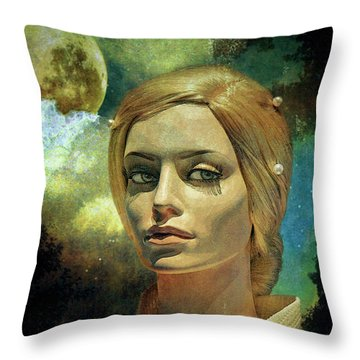 Luna In The Garden Of Evil Throw Pillow