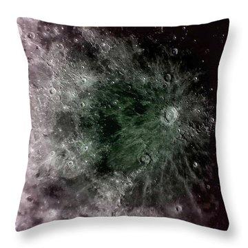 Lunar Crater Throw Pillow
