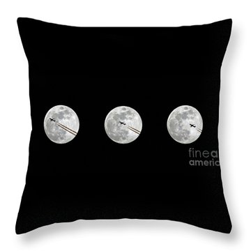 Lunar Silhouette In Sequence Throw Pillow