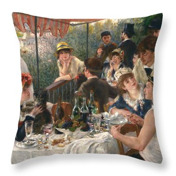 Luncheon Of The Boating Party, 1880-1881 Throw Pillow