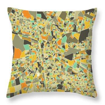 Lusaka Map 1 Throw Pillow