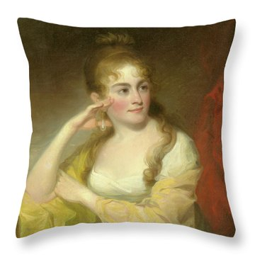 Portrait Of Lydia Leaming, 1806 Throw Pillow