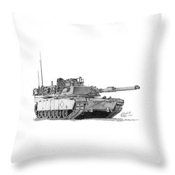 M1a1 Battalion Commander Tank Throw Pillow