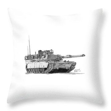 M1a1 C Company 2nd Platoon Throw Pillow