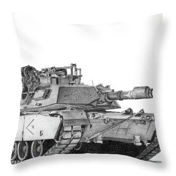M1a1 D Company Xo Tank Throw Pillow