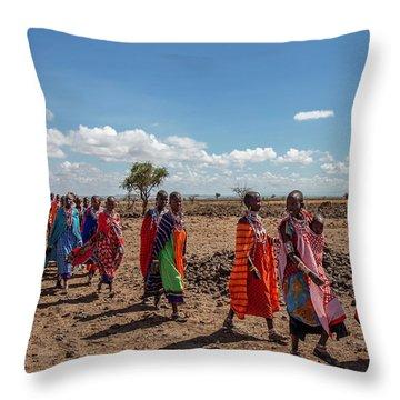 Maasi Women Throw Pillow