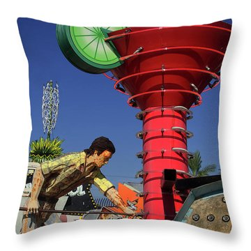 Throw Pillow featuring the photograph Mack The Knife by Skip Hunt