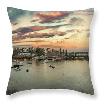 Throw Pillow featuring the photograph Mackerel Cove Sunrise by Guy Whiteley
