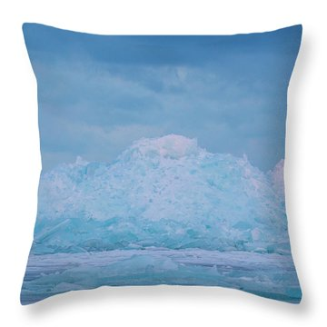Throw Pillow featuring the photograph Mackinaw City Ice Formations 2161802 by Rick Veldman