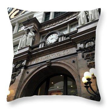 Macys Herald Square Nyc Throw Pillow