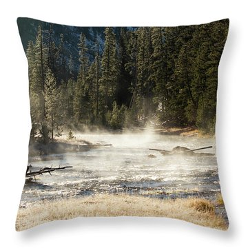 Madison River Morning Throw Pillow
