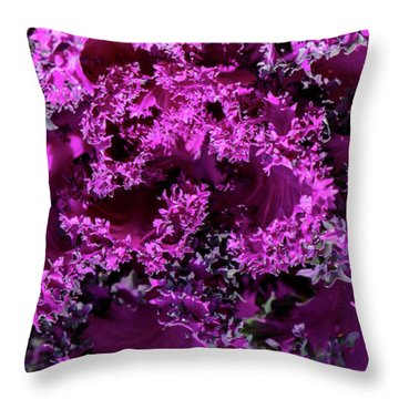 Throw Pillow featuring the photograph Magenta Cabbage by Mark Shoolery