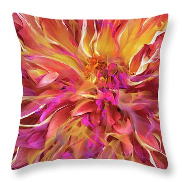 Magenta Sunshine Throw Pillow