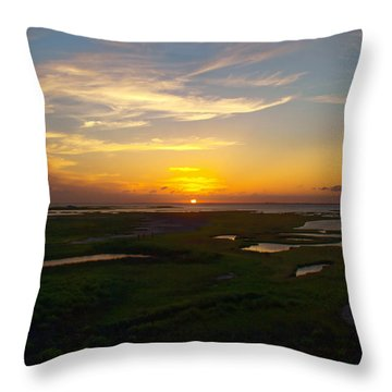 Maggies Cove Sunset Throw Pillow