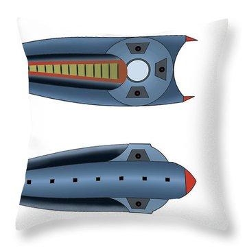 Maggotroll Frigate Schema Throw Pillow