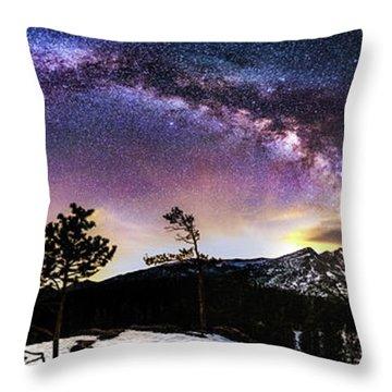 Magic Above Rocky Mountain National Park Throw Pillow