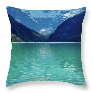 Magic At Lake Louise Throw Pillow