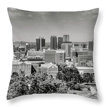 Magic City Skyline Bw Throw Pillow