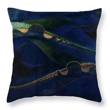 Throw Pillow featuring the painting Magic Fish by James Lanigan Thompson MFA