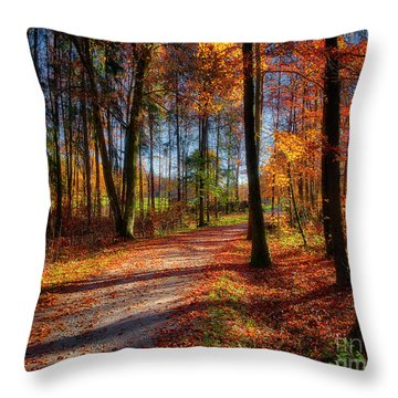 Magic Of The Forest Throw Pillow