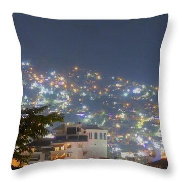 Throw Pillow featuring the photograph Magic Of Zihuatanejo Bay by Rosanne Licciardi