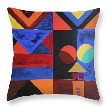 Magical Lines  Throw Pillow