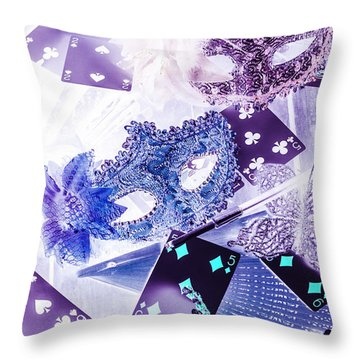Magical Masquerade Throw Pillow