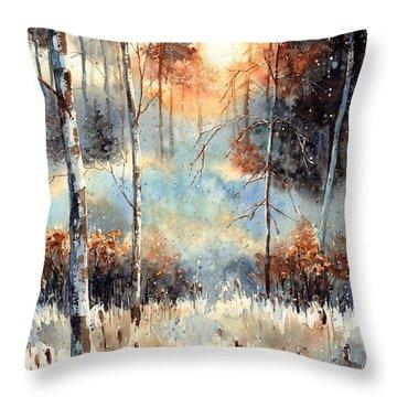 Magical Sun Throw Pillow