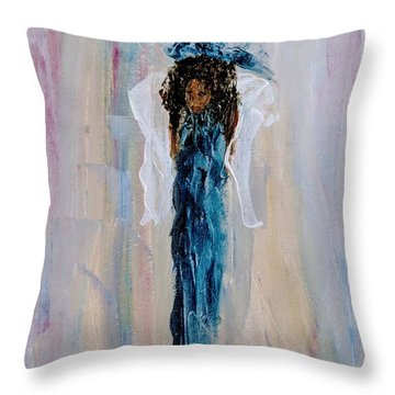 Magnificent Angel Throw Pillow