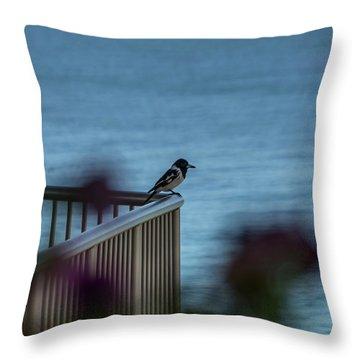 Magpie Bird Throw Pillow
