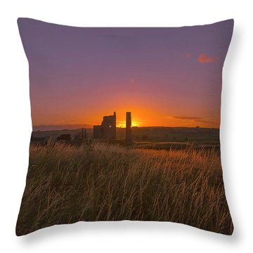 Magpie Mine Sunset Throw Pillow