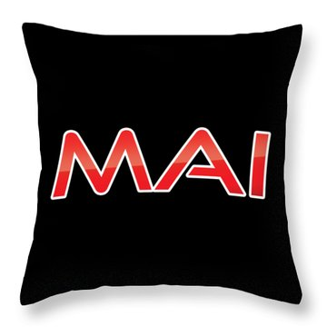 Throw Pillow featuring the digital art Mai by TintoDesigns