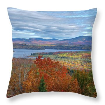 Maine Fall Colors Throw Pillow