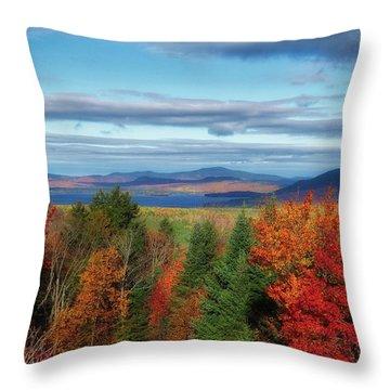 Maine Fall Foliage Throw Pillow