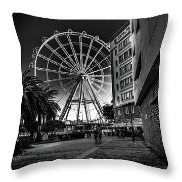 Malaga Ferris Wheel Throw Pillow