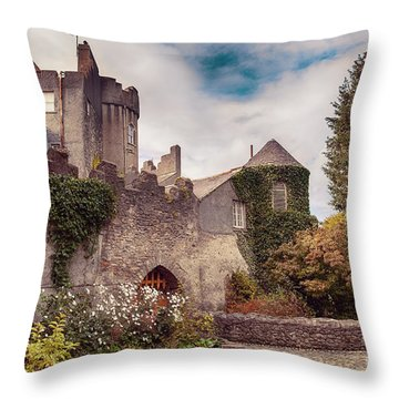 Malahide Castle By Autumn  Throw Pillow